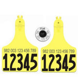 Allflex Usda 840 Eid Tag With 2 Matched Numbered 2 Atag Maxi Cow Tags