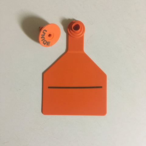 Z Tag Large Deer ear tag with Unique/Mgmt Number Tag TPWD Whitetail ID Program compliant