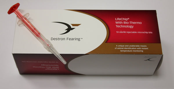 Destron Fearing Equine Microchip LifeChip Bio-Thermo Technology (10/box)