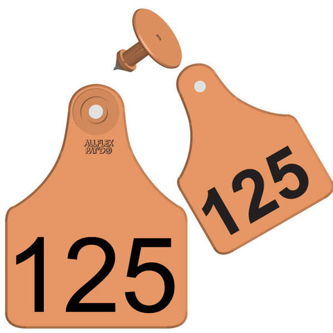 ALLFLEX Maxi Cow/Calf Numbered 2 Sides Ear Tag with Blank Button