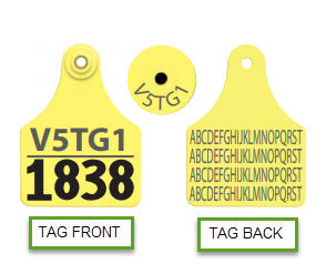 ALLFLEX Deer Large Unique/Mgmt Number Tag with printed back TPWD Whitetail ID Program