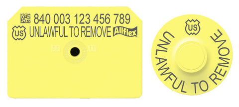 Allflex  Official USDA 840 Visual Swine Blank Tag with Tamperproof Round