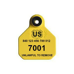 YTex 840 USDA Visual Mini Numbered Ear Tag with Button sold by CCK Outfitters