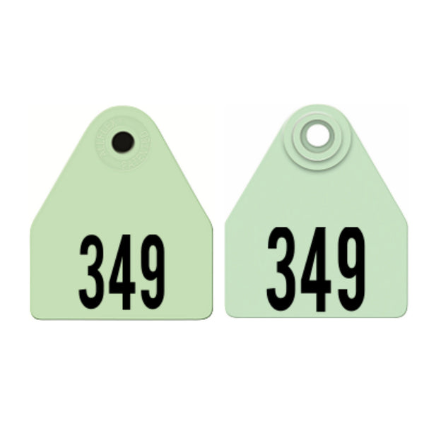 ALLFLEX Medium Deer Numbered 1 Side Female Ear Tag with Numbered 1 Side Male Tag
