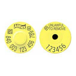 Allflex USDA 840 Visual Tamperproof Round Ear Tag with Numbered Button