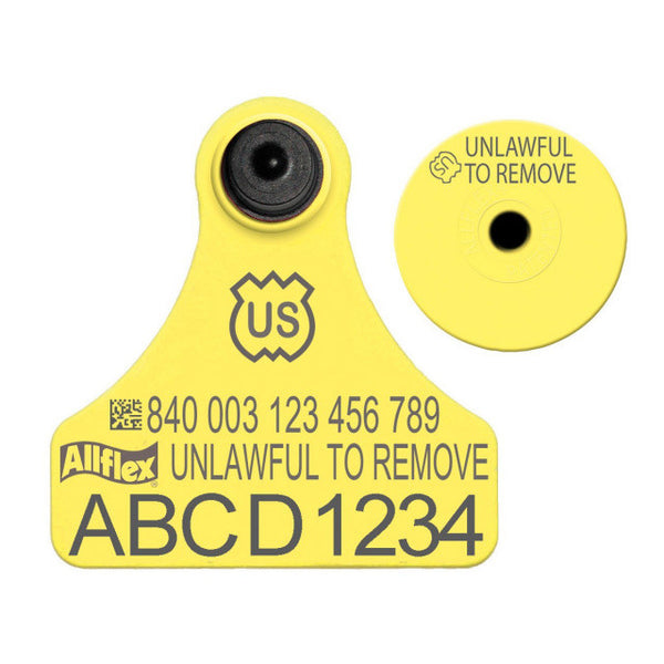 ALLFLEX USDA 840 Visual Tamperproof Junior Premise Number with Button