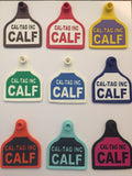 CAL TAG Cow Large Welded Numbered 2 Side Tag with button