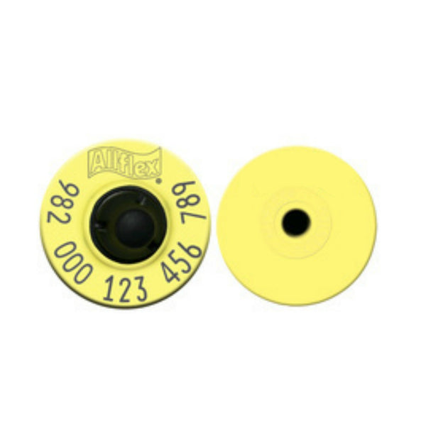 Allflex 982 FDX Standard Performance Full Duplex Lightweight Swine Yellow EID Ear Tags with Extended Buttons (20/bag)