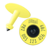 Allflex 982 FDX Standard Performance Full Duplex Tamperproof Bovine Yellow EID Ear Tag with Extended Button (20/bag)