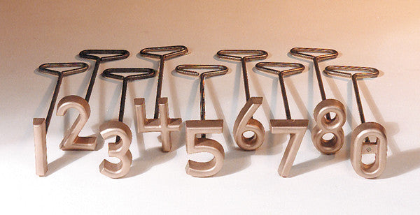 "L&H Copper Freeze Branders 9 Number Set 4"" size"