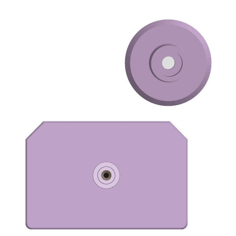 Allflex Integra Hog Blank Male Ear Tag with Blank Female Button (Bag/25)