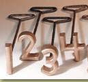"L&H Single Letter or Number Copper Freeze Brand 4"" size"