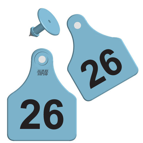ALLFLEX Large Calf/Deer Numbered 2 Sides Ear Tag with Blank Button
