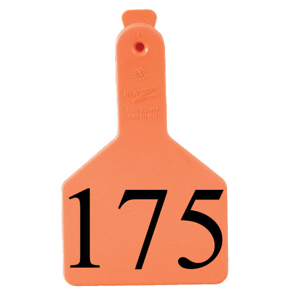 ZTAG Long Neck Calf Numbered 1 piece Ear Tags (25/bag)