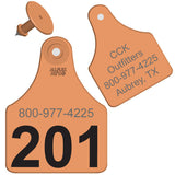 ALLFLEX Maxi Cow/Calf Custom 2 Sides Ear Tag with Blank Button
