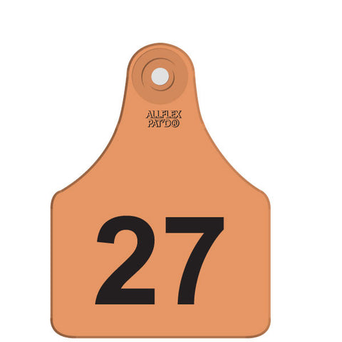 ALLFLEX Maxi Numbered 1 Side Row Tag