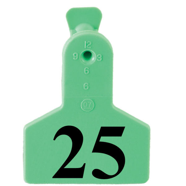 ZTAG Small Numbered 1 Side 1 piece Ear Tags