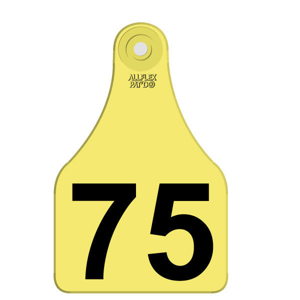 ALLFLEX Super Maxi Numbered 1 Side  Row Tag