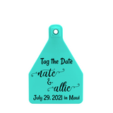 Temple Medium Custom Save the Date Tag
