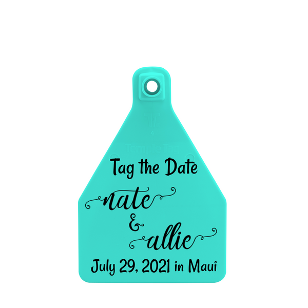 Temple Large Custom Save the Date Tag