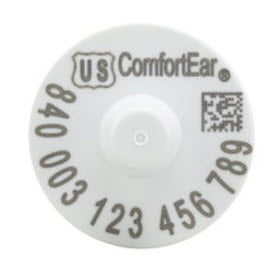 Temple Comfortear USDA 840 EID HDX Ear Tag with Extended Button White (25/bag)