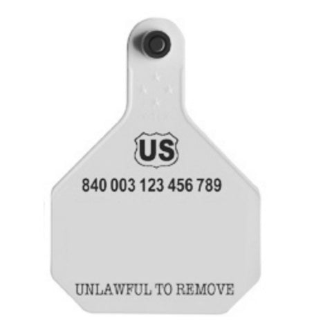 Ytex 840 USDA Official Visual Large Blank Tag with Button