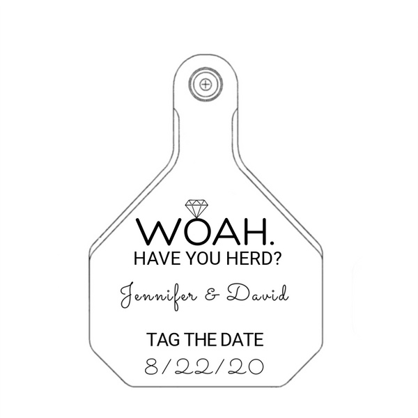 Y-TEX Large Save the Date Tag