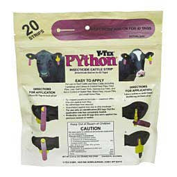 Y-TEX Python pyrethroid Insecticide Strips (20/bag) FOR HORSES