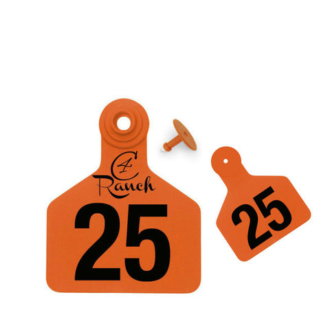 Z Tag Z2 2-piece Custom 2 Sides Large Calf Ear Tag with Button