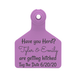 Z Tag Stockman Large Custom Save the Date Tag