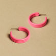 Neon Pink Michelle Hoops - Large
