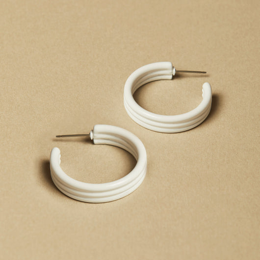 Blanc Michelle Hoops - Large