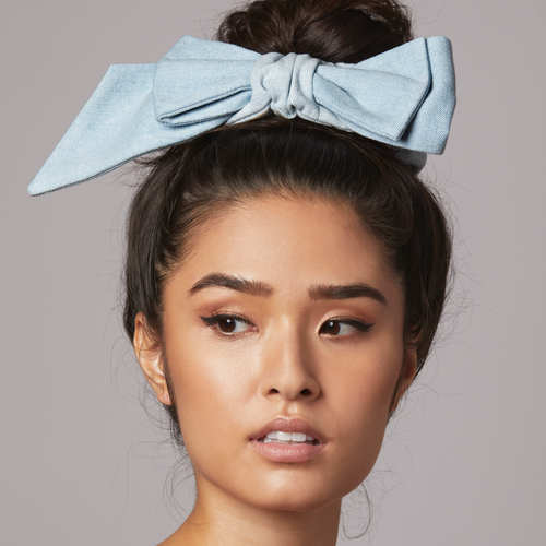 Noir and Rose Ainsley Asymmetrical Bow Scrunchie