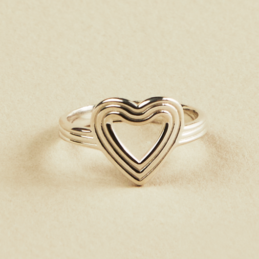 Amour Sterling Silver Ring