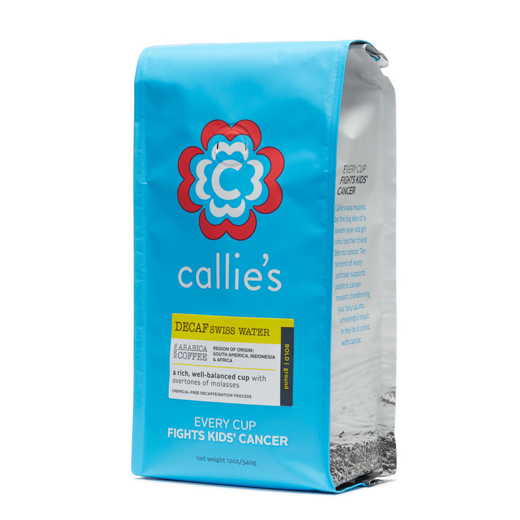 Callie's Coffee - Swiss Water Decaf Bold Coffee - Free Shipping - Fight Kids Cancer - Seattle Children's Cancer Research Institute - Ben Towne Center