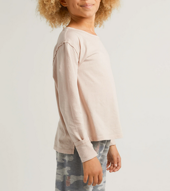 Z Supply Girls Mina organic ls tee