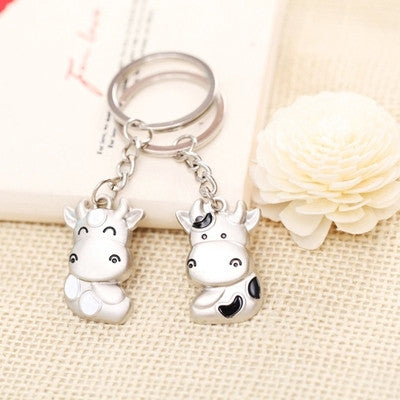 Dress cute cartoon lovers Keychain Key Ring Key Pendant cow general small gifts for men and women
