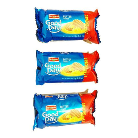 Britannia Good Day Butter Cookies 72 gm (3 for £1) - Sabadda - Indian Online Grocery Store in UK
