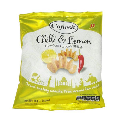 Cofresh Chilli & Lemon Flavour Potato Grills 28 gm - Sabadda - Indian Online Grocery Store in UK