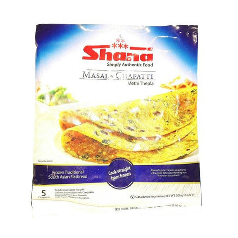 Shana Masala Chapatti (Methi Thepla) 300 gm - Sabadda - Indian Online Grocery Store in UK
