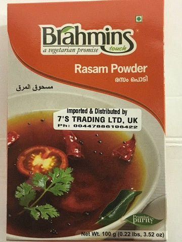 Brahmins Foods Rasam Powder Duplex 100 GM - SabAdda - Asian Grocery Store