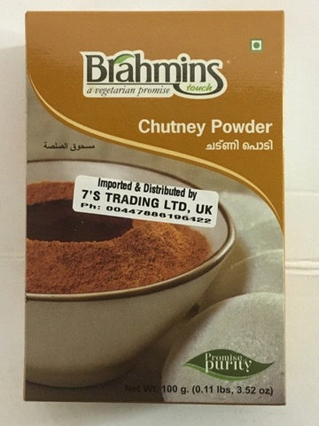 Brahmins Foods Chutney Powder Duplex 100 GM - SabAdda - Asian Grocery Store