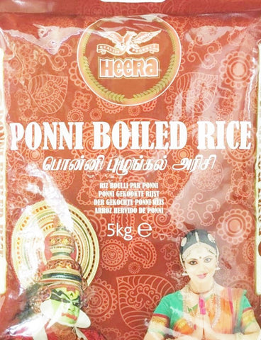 Heera Pooni Boiled Rice 5kg - SabAdda - Asian Grocery Store