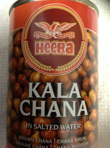Heera (Boiled) Kala Chana in Salted Water 400 gm - Sabadda - Indian Online Grocery Store in UK