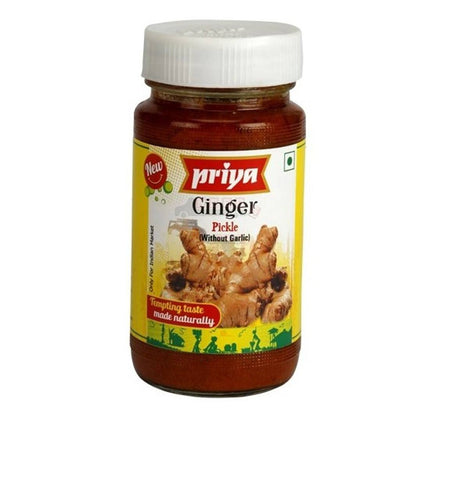 Priya Ginger Pickle 300 gm - Sabadda - Indian Online Grocery Store in UK