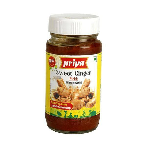 Priya Sweet Ginger Pickle 300 gm - Sabadda - Indian Online Grocery Store in UK