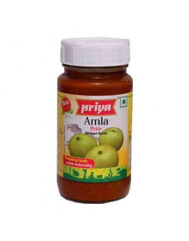 Priya Amla Pickle With Out Garlic 300gm - Sabadda - Indian Online Grocery Store in UK