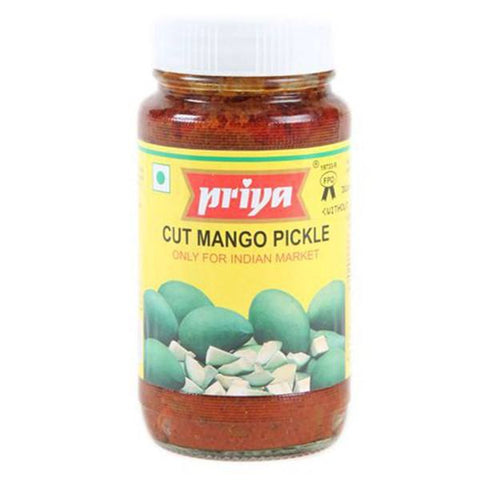 Priya Cut Mango Pickle With Out Garlic 300gm - SabAdda - Asian Grocery Store