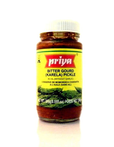 Priya Bitter Gourd (Karela) Pickle 300 gm - Sabadda - Indian Online Grocery Store in UK