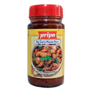 Priya Veg Curry Masala Paste 300 gm - Sabadda - Indian Online Grocery Store in UK